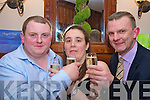 Tom O'Mahony, functions manager, Heights Hotel, Killarney toasts Denis Buckley, Kilnamartra and Rosie Murphy, Ballyvourney, after they won the EUR5,000 Honeymoon Giveaway in the Heights Hotel on Saturday night..