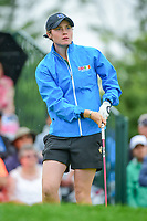 Leona Maguire (a)(IRL) watches her tee shot on 1 during Friday's second round of the 72nd U.S. Women's Open Championship, at Trump National Golf Club, Bedminster, New Jersey. 7/14/2017.<br /> Picture: Golffile | Ken Murray<br /> <br /> <br /> All photo usage must carry mandatory copyright credit (&copy; Golffile | Ken Murray)