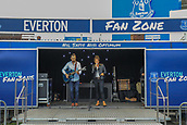 28th September 2017, Goodison Park, Liverpool, England; UEFA Europa League group stage, Everton versus Apollon Limassol; A local band played in the fan zone