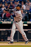 8 September 2006: Nook Logan, outfielder for the Washington Nationals, in action against the Colorado Rockies. The Rockies defeated the Nationals 11-8 at Coors Field in Denver, Colorado...Mandatory Photo Credit: Ed Wolfstein.
