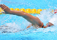 July 30, 2012..Federica Pellegrini of Italy competes in women's 200m freestyle semifinal at the Aquatics Center on day three of 2012 Olympic Games England in London, United Kingdom..