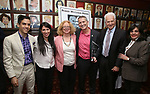 Matthew Lopez, Rachel Chavkin, Victoria Bailey, Tom Kirdahy, Tom Viertel and Charlotte St. Martin during the Robert Whitehead Award Ceremony honoring Tom Kirdahy at Sardi's on 5/22/2019 in New York City.
