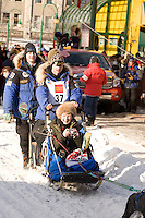 Rohn Buser Anchorage Start Iditarod 2008.