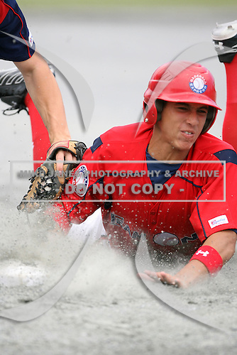 George Springer during the Cape Cod High School Classic presented by Under Armour at Spillane Field on July 27th 2007 in Wareham, Massachusetts.  (Copyright Mike Janes Photography)