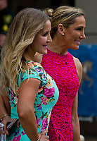 HALLANDALE BEACH, FL - JANUARY 27: Two women pose for a photo on Pegasus World Cup Invitational Day at Gulfstream Park Race Track on January 27, 2018 in Hallandale Beach, Florida. (Photo by Scott Serio/Eclipse Sportswire/Getty Images)