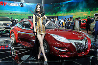 Geely Gleagle GS concept car at Beijing Auto Show 2010. The car show has attracted all the world's major auto markers. China's vehicle sales have breached the 10-million barrier for the first time ever, with 10.9 million automobiles sold last year. .24 Apr 2010
