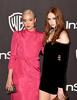 LOS ANGELES, CALIFORNIA - JANUARY 06: Pom Klementieff and Karen Gillan attend the Warner InStyle Golden Globes After Party at the Beverly Hilton Hotel on January 06, 2019 in Beverly Hills, California. <br /> CAP/MPI/IS<br /> &copy;IS/MPI/Capital Pictures