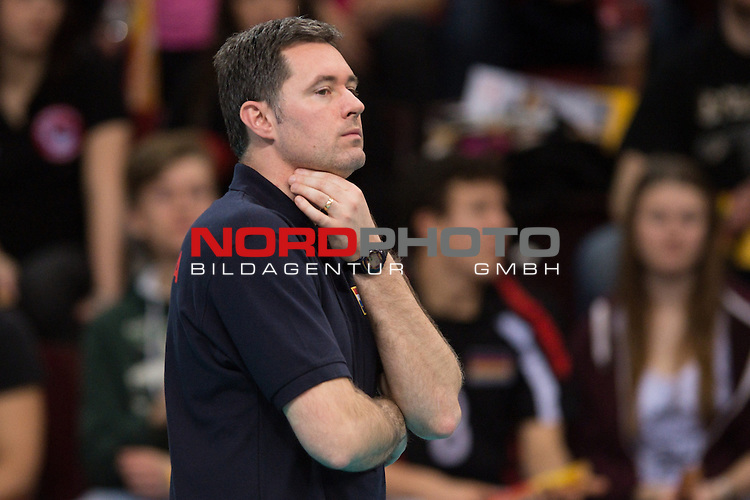 05.01.2014, MHP Arena, Ludwigsburg<br /> Volleyball, Qualifikation WM 2014, Estland vs. Kroatien<br /> <br /> Igor Simuncic (Trainer / Coach CRO)<br /> <br />   Foto &copy; nordphoto / Kurth