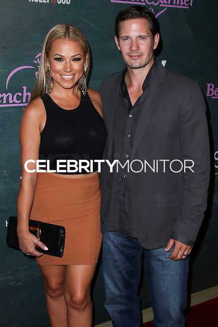 HOLLYWOOD, LOS ANGELES, CA, USA - AUGUST 28: Jessica Hall, Kyle Carlson arrive at the Benchwarmer Back To School Celebration to Benefit Children of the Night held at Station Hollywood at the W Hotel Hollywood on August 28, 2014 in Hollywood, Los Angeles, California, United States. (Photo by Xavier Collin/Celebrity Monitor)