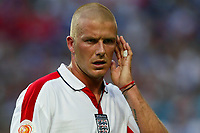 David Beckham of England reacts during the European Championship football match between France and England. France won 2-1 over England .<br /> Lisbon 13/6/2004 Estadio da Luz <br /> Photo Andrea Staccioli Insidefoto