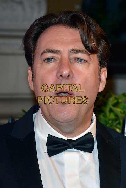 Jonathan Ross<br /> BFI's 'Luminous' gala diner and auction, 8 Northumberland Avenue, London, England.<br /> 8th October 2013<br /> headshot portrait black white tuxedo bow tie mouth open<br /> CAP/PL<br /> &copy;Phil Loftus/Capital Pictures