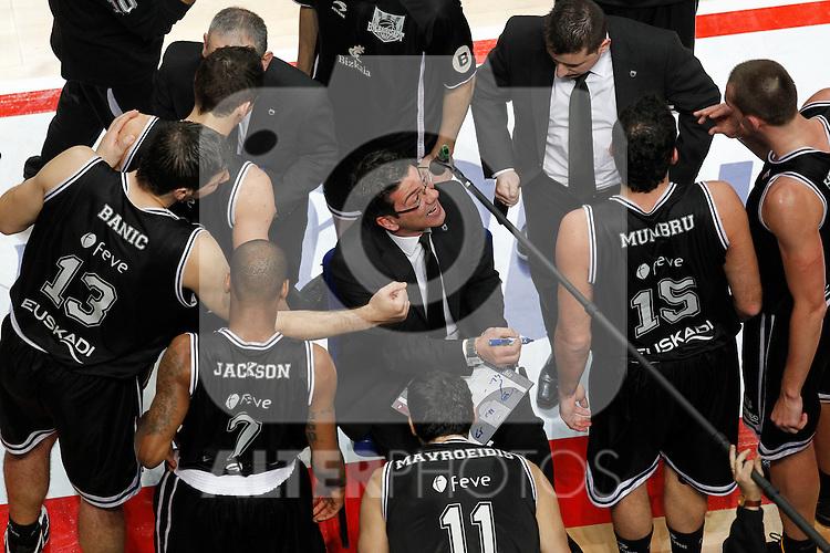 Madrid.- (10/02/2011).-LXXV COPA DE S.M. EL REY.FASE FINAL.Caja Laboral-Bizkaia Bilbao Basket .Katsikaris...©Alex Cid-Fuentes/AlfaquiFotografia