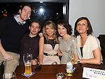 Ciaran Duffy, James McGahon, Victoria Thornton, Edel Faulkner and Sylvia Smietana enjoying the new year celebrations at Brú. Photo: Colin Bell/pressphotos.ie