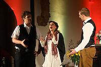 """Mariella Maaß, Simon Klug und Kai Winter singen ein Stück aus """"Anastasia""""- Gross-Gerau 01.10.2016: Musical Benefizshow für BIA Foundation für Kinder in Nepal in der Groß-Gerauer Stadtkirche"""