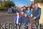 SAFE AT LAST: Locals from Oakpark are delighted with the new pedistrian crossing erected recently to making crossing the busy road a lot safer. Front l-r were: Darragh O'Sullivan Ronan Lucey, Evan O'Sullivan and  Grace O'Sullivan. Back l-r were: Sean O'Connell, Mary Johnson, Cllr. Jim Finuchane, Cllr Pat Hussey, Patricia O'Sullivan Alan Quirke and Denis Devane.