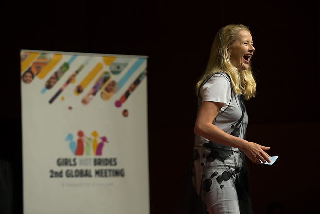 27 June, 2018, Kuala Lumpur, Malaysia : Mabel van Orange at the closing address following the completion of the Girls Not Brides Global Meeting 2018 at the Kuala Lumpur Convention Centre. Picture by Graham Crouch/Girls Not Brides