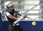 Western Nevada&rsquo;s Bailey Henderson hits against the College of Southern Nevada at Edmonds Sports Complex in Carson City, Nev., on Friday, April 1, 2016. <br />Photo by Cathleen Allison/Nevada Photo Source