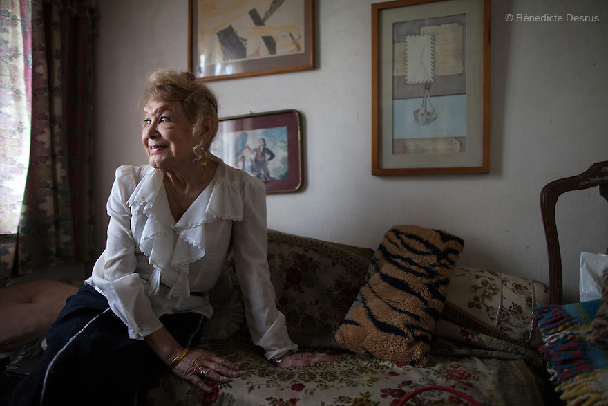 "September 9, 2012 - Mexico City, Mexico - Samantha portrayed at her home in Mexico City. Samantha Flores is an 80-year-old transgender woman from Veracruz, Mexico. She is a prominent social activist for LGBTQI rights and is the founder of the non-profit organization ""Laetus Vitae"", a day shelter for elderly gay people in Mexico City. Senior citizens in general are many times prone to neglect and abandonment by their families, leaving them all but invisible. Their plight can be even worse if they are homosexual. Photo credit: Bénédicte Desrus"