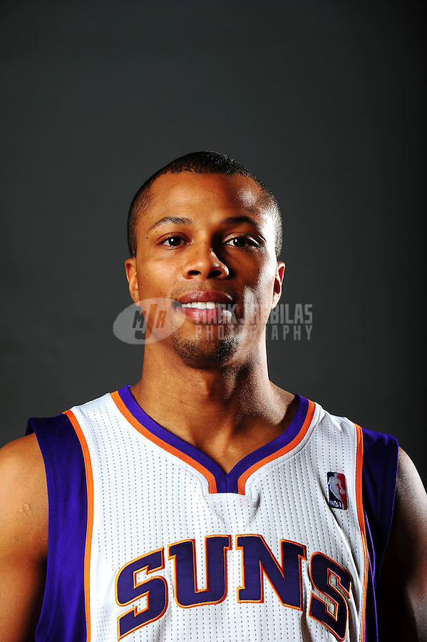 Dec. 16, 2011; Phoenix, AZ, USA; Phoenix Suns guard Sebastian Telfair poses for a portrait during media day at the US Airways Center. Mandatory Credit: Mark J. Rebilas-