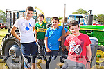 Padraic O'Sullivan, Frank Wharton, Colin O'Meara, Cian O'Sullivan Listry admiring the vintage tractors at the South Kerry Ploughing Championships in Fossa on Sunday