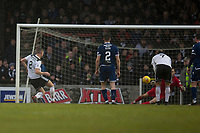 7th March 2020; Somerset Park, Ayr, South Ayrshire, Scotland; Scottish Championship Football, Ayr United versus Dundee FC; Conor Hazard of Dundee saves a penalty kick from Aaron Muirhead of Ayr United
