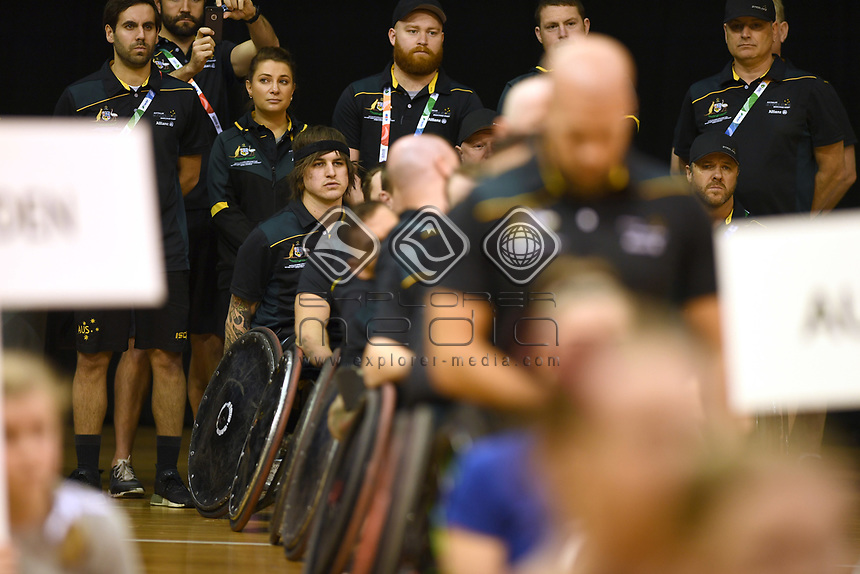 Australian Steelers staff<br /> Australian Wheelchair Rugby Team<br /> 2018 IWRF WheelChair Rugby <br /> World Championship / Day 1<br /> Sydney  NSW Australia<br /> Sunday 5th August 2018<br /> © Sport the library / Jeff Crow / APC