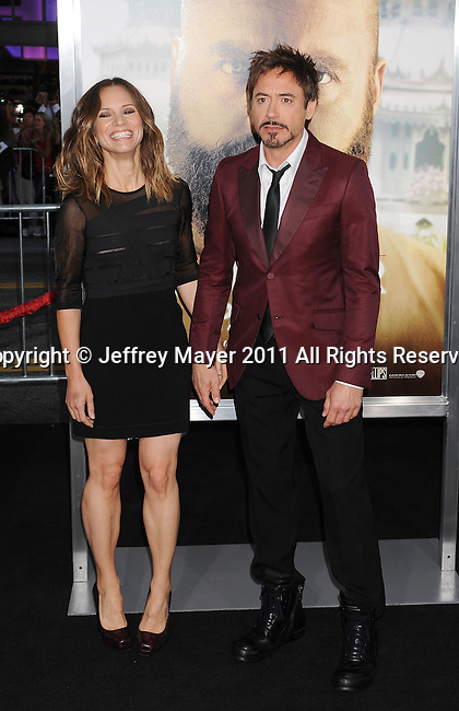 "`HOLLYWOOD, CA - MAY 19: Robert Downey Jr. and Susan Downey arrive at the Los Angeles premiere of ""The Hangover Part II"" at Grauman's Chinese Theatre on May 19, 2011 in Hollywood, California."