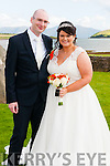 Michelle Ní Fhaircheallaigh, daughter of Michael Farrelly, from Navan, and Graham Bishop, son of Chris and Jane, from Howth, who were married on Friday in St. Mary's Church, Dingle. The ceremony was officiated by fr. Peter Farrelly. Best Man was Mark Bishop and groomsmen were David Connolly and Bernard McKeever. Bridesmaids were Claire Ní Fhaircheallaigh, Amanda Weldon and Rachel Bishop. The reception was held at the Skellig Hotel.