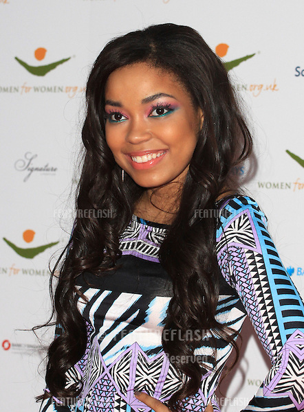 Dionne Bromfield arriving for the Women for Women Gala held at the Guildhall, London. 03/05/2012 Picture by: Henry Harris / Featureflash