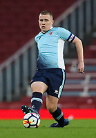 Blackpool U18's Ben Jacobson<br /> <br /> Photographer Andrew Kearns/CameraSport<br /> <br /> Emirates FA Youth Cup Semi- Final Second Leg - Arsenal U18 v Blackpool U18 - Monday 16th April 2018 - Emirates Stadium - London<br />  <br /> World Copyright &copy; 2018 CameraSport. All rights reserved. 43 Linden Ave. Countesthorpe. Leicester. England. LE8 5PG - Tel: +44 (0) 116 277 4147 - admin@camerasport.com - www.camerasport.com