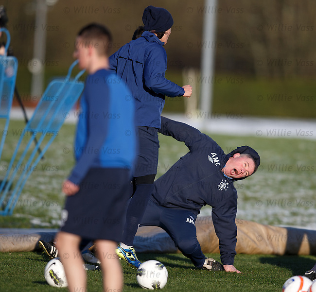 Ally McCoist slides in and gets a right sore one from Kal Naismith