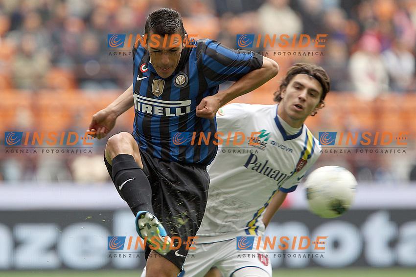 Lucio Inter.Milano 23/10/2011 Stadio S.Siro.Football Calcio Serie A 2011-12.Inter vs Chievo .Foto Insidefoto Paolo Nucci