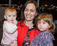 Nicola Mallon, SDLP, MLA, North Belfast, N Ireland, pictured with young family, at Titanic Belfast, 25th January 2018, for launch of Maurice Fitzpatrick&rsquo;s book, John Hume in America: Derry to DC. 201801254820.<br /><br />Copyright Image from Victor Patterson, 54 Dorchester Park, <br />Belfast, UK, BT9 6RJ<br /><br />t1: +44 28 9066 1296 (from Rep of Ireland 048 9066 1296)<br />t2: +44 28 9002 2446 (from Rep of Ireland 048 9002 2446)<br />m: +44 7802 353836<br /><br />victorpatterson@me.com<br />www.victorpatterson.com<br /><br />Please see my Terms and Conditions of Use at VICTORPATTERSON.COM. It is IMPORTANT that you familiarise yourself with them.<br /><br />Images used on the Internet must be visibly watermarked i.e. &copy;VICTORPATTERSON.COM within the body of the image and copyright metadata must not be deleted. Images used on the Internet have a size restriction of 4kbs and are chargeable at the then current NUJ rates.<br /><br />This image is only available for the use of the download recipient i.e. television station, newspaper, magazine, book publisher, etc, and must not be passed on to any third party. It is also downloaded on condition that each and every usage is notified within 7 days to victorpatterson@me.com<br /><br />The right of Victor Patterson to be identified as the author is asserted in accordance with The Copyright Designs And Patents Act (1988).