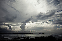 A storm front rolls in over Snapper Rocks, Coolangatta , Queensland, Australia.  Photo: joliphotos.com