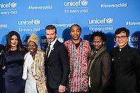 NEW YORK, NY, 12.12.2016 - ONU-UNICEF -  (E) Priyanka Chopra, David Beckhan e Jackie Chan atende fotógrafos durante tapete vermelho do 70º aniversário da UNICEF (Fundo das Nações Unidas para a Infância) na sede da Nações Unidas em New York os Estados Unidos nesta segunda-feira, 12. (Foto: Vanessa Carvalho/Brazil Photo Press)