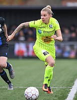 20191123 – BRUGGE, BELGIUM : Gent's Tine Schryvers pictured during a women soccer game between Dames Club Brugge and K AA Gent Ladies on the ninth matchday of the Belgian Superleague season 2019-2020 , the Belgian women's football  top division , saturday 23 th November 2019 at the Jan Breydelstadium – terrain 4  in Brugge  , Belgium  .  PHOTO SPORTPIX.BE | DAVID CATRY