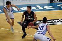 ZWOLLE - Basketbal, Landstede - Donar, Halve finale beker, seizoen 2017-2018, 18-02-2018, Donar speler Arvin Slagter met Landstede speler Jordan Gregory