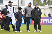 Brendan Lawlor (IRL) (AM)  with Juan Postigo Arce and Keith Pelley CEO European Tour during the Hero Pro-am at the Betfred British Masters, Hillside Golf Club, Lancashire, England. 08/05/2019.<br /> Picture Fran Caffrey / Golffile.ie<br /> <br /> All photo usage must carry mandatory copyright credit (&copy; Golffile | Fran Caffrey)