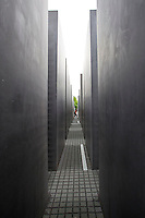 Berlin's Memorial to the Murdered Jews of Europe, a holocaust memorial opened in 2005 that consists of 2,711 grey concrete columns. It was designed by Peter Eisenmann and sculptor Richard Serra. .