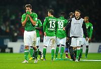 FUSSBALL   1. BUNDESLIGA    SAISON 2012/2013    17. Spieltag   SV Werder Bremen - 1. FC Nuernberg                     16.12.2012 Sokratis Papastathopoulos (SV Werder Bremen) ist nach dem Abpfiff enttaeuscht