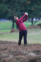 Tom Lewis (ENG) on the 13th fairway during Round 1of the Sky Sports British Masters at Walton Heath Golf Club in Tadworth, Surrey, England on Thursday 11th Oct 2018.<br /> Picture:  Thos Caffrey | Golffile<br /> <br /> All photo usage must carry mandatory copyright credit (© Golffile | Thos Caffrey)
