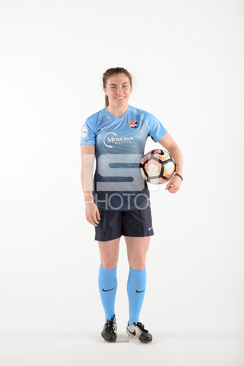 Belmar, NJ - Wednesday March 29, 2017: Catherine Zimmerman poses for photos at the Sky Blue FC team photo day.