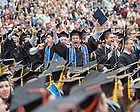May 17, 2015; Mendoza College of Business graduates celebrate at the 2015 Commencement. (Photo by Matt Cashore/University of Notre Dame)