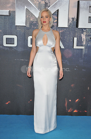 Jennifer Lawrence at The &quot;X-Men : Apocalypse&quot; global fan screening, BFI Imax, Charlie Chaplin Walk, London, England, UK, on Monday 09 May 2016.<br /> CAP/CAN<br /> &copy;CAN/Capital Pictures /MediaPunch ***NORTH AMERICA AND SOUTH AMERICA ONLY***