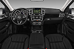 Stock photo of straight dashboard view of 2017 Mercedes Benz GLS-Class GLS450 5 Door SUV Dashboard