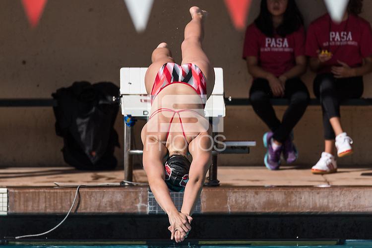 Stanford, CA; Saturday November 12, 2016;  Woman's Swimming vs Texas