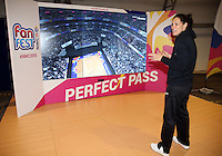 06.08.2015 Silver Ferns Jodi Brown visit the Fan Fest ahead of the 2015 Netball World Champs at All Phones Arena in Sydney, Australia. Mandatory Photo Credit ©Michael Bradley.