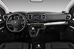 Stock photo of straight dashboard view of 2017 Peugeot Traveller Allure 4 Door Passenger Van Dashboard