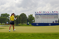 So Yeon Ryu (KOR) sinks her birdie putt on 18 to send it to a second playoff hole at 16 during round 4 of the 2018 KPMG Women's PGA Championship, Kemper Lakes Golf Club, at Kildeer, Illinois, USA. 7/1/2018.<br /> Picture: Golffile | Ken Murray<br /> <br /> All photo usage must carry mandatory copyright credit (&copy; Golffile | Ken Murray)