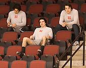 Sahir Gill (BU - 28), Matt Nieto (BU - 17), Garrett Noonan (BU - 13) - The visiting University of Vermont Catamounts tied the Boston University Terriers 3-3 in the opening game of their weekend series at Agganis Arena in Boston, Massachusetts, on Friday, February 25, 2011.